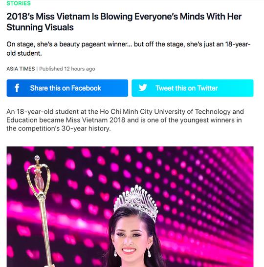 Tân Hoa hậu Việt Nam được báo chí nước ngoài khen ngợi - Ảnh 3.
