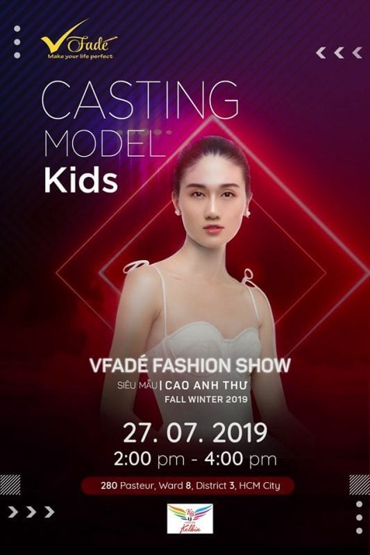 Casting Model Kids cho VFadé Fashion Show 2019.